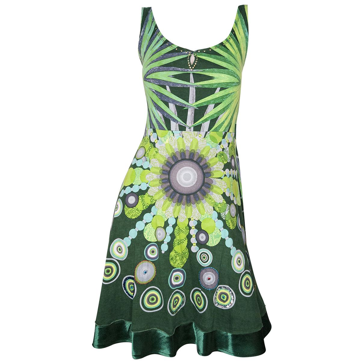 Desigual \N Kleid in  Gruen Polyester