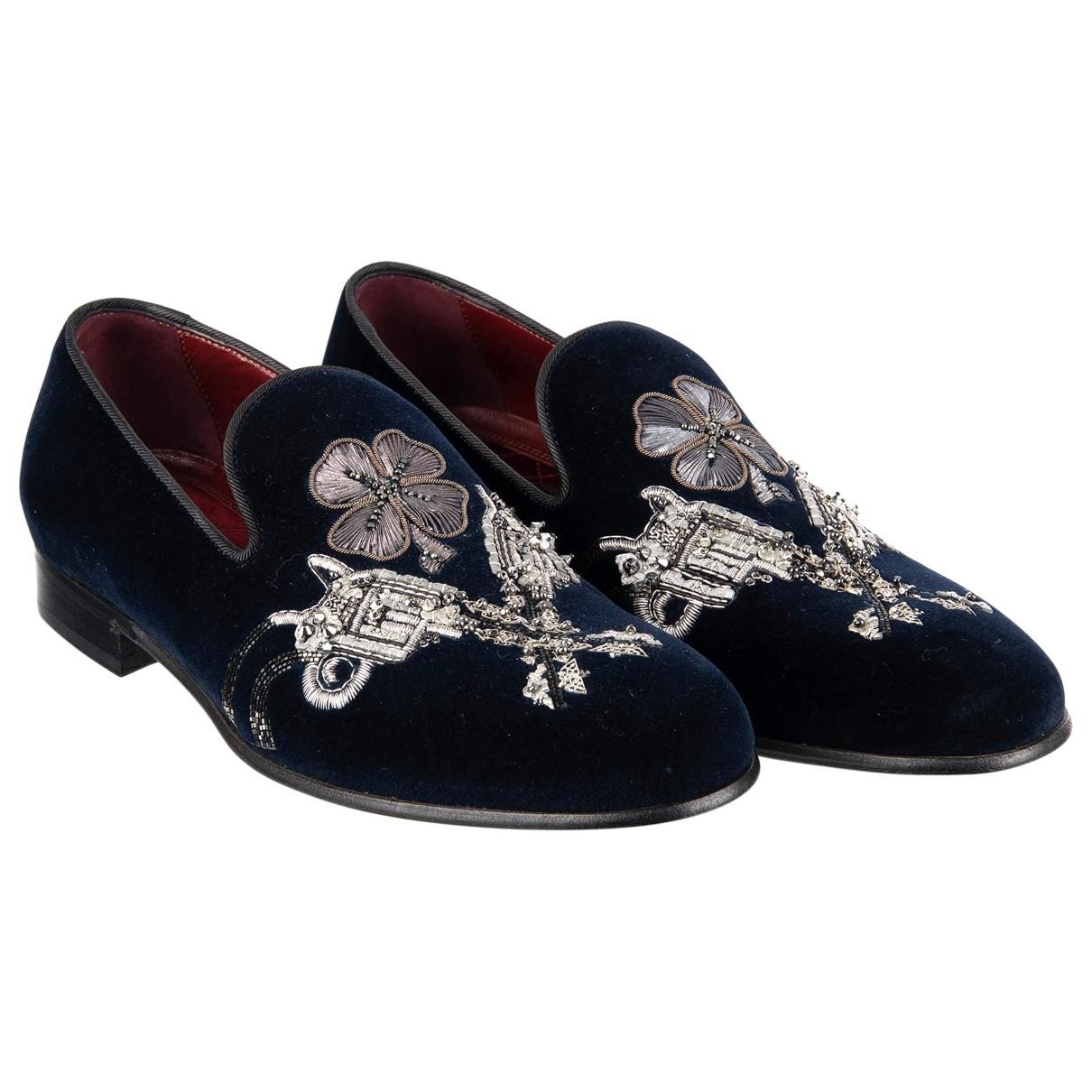 Dolce & Gabbana \N Mokassins in  Marine Samt