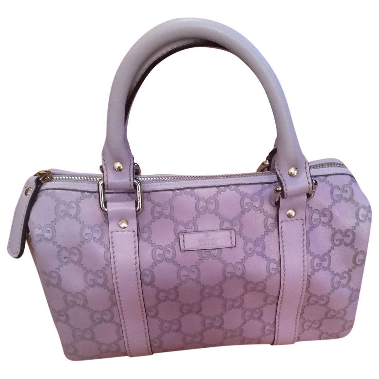 Gucci - Sac a main Boston pour femme en cuir - violet
