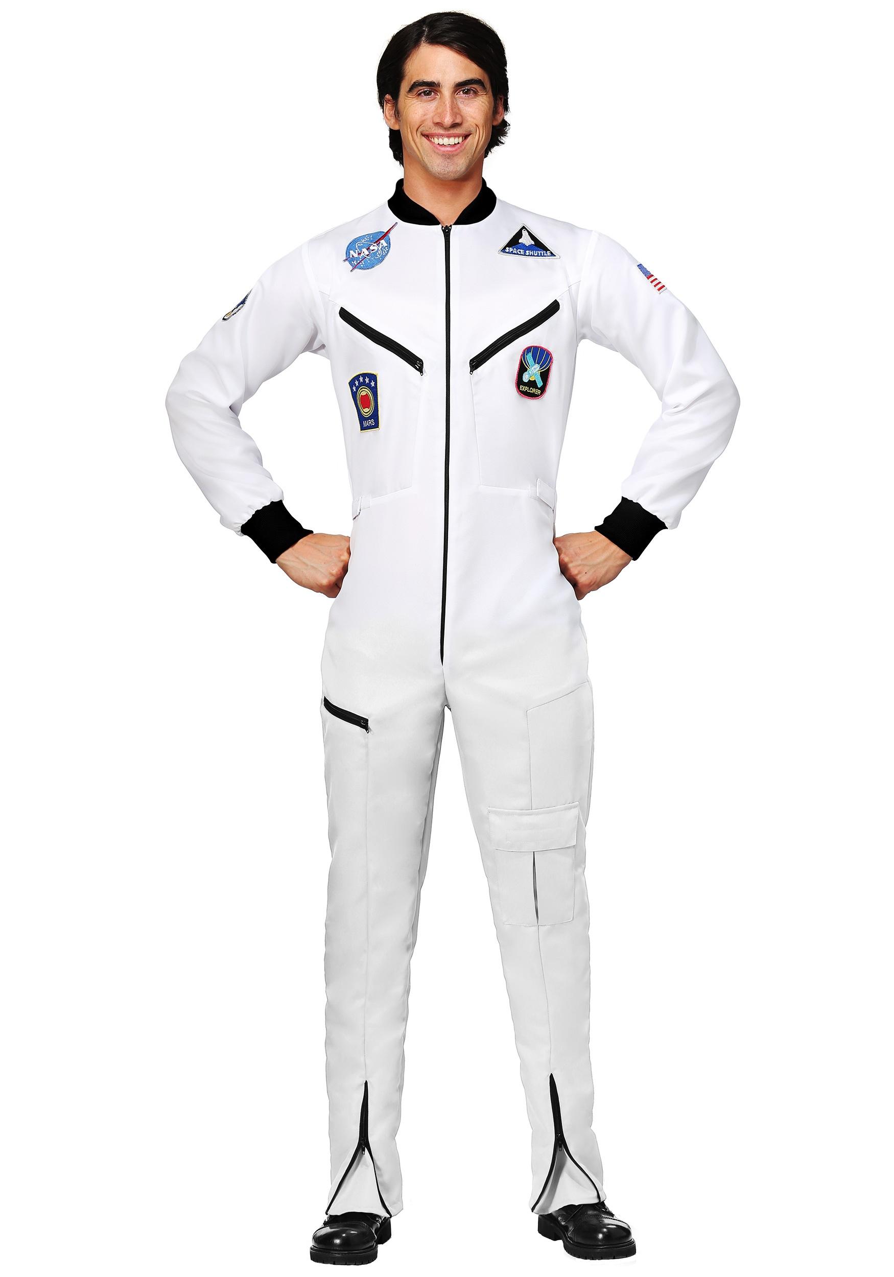 White Astronaut Jumpsuit Adult Plus Size Costume | Exclusive