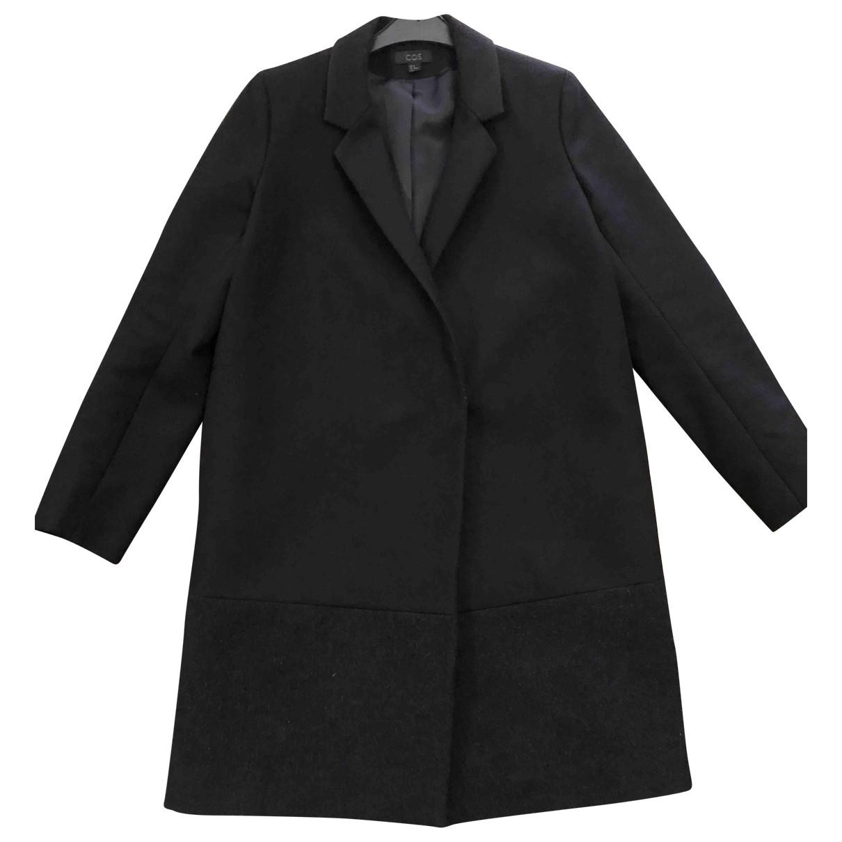 Cos - Manteau   pour femme en laine - noir