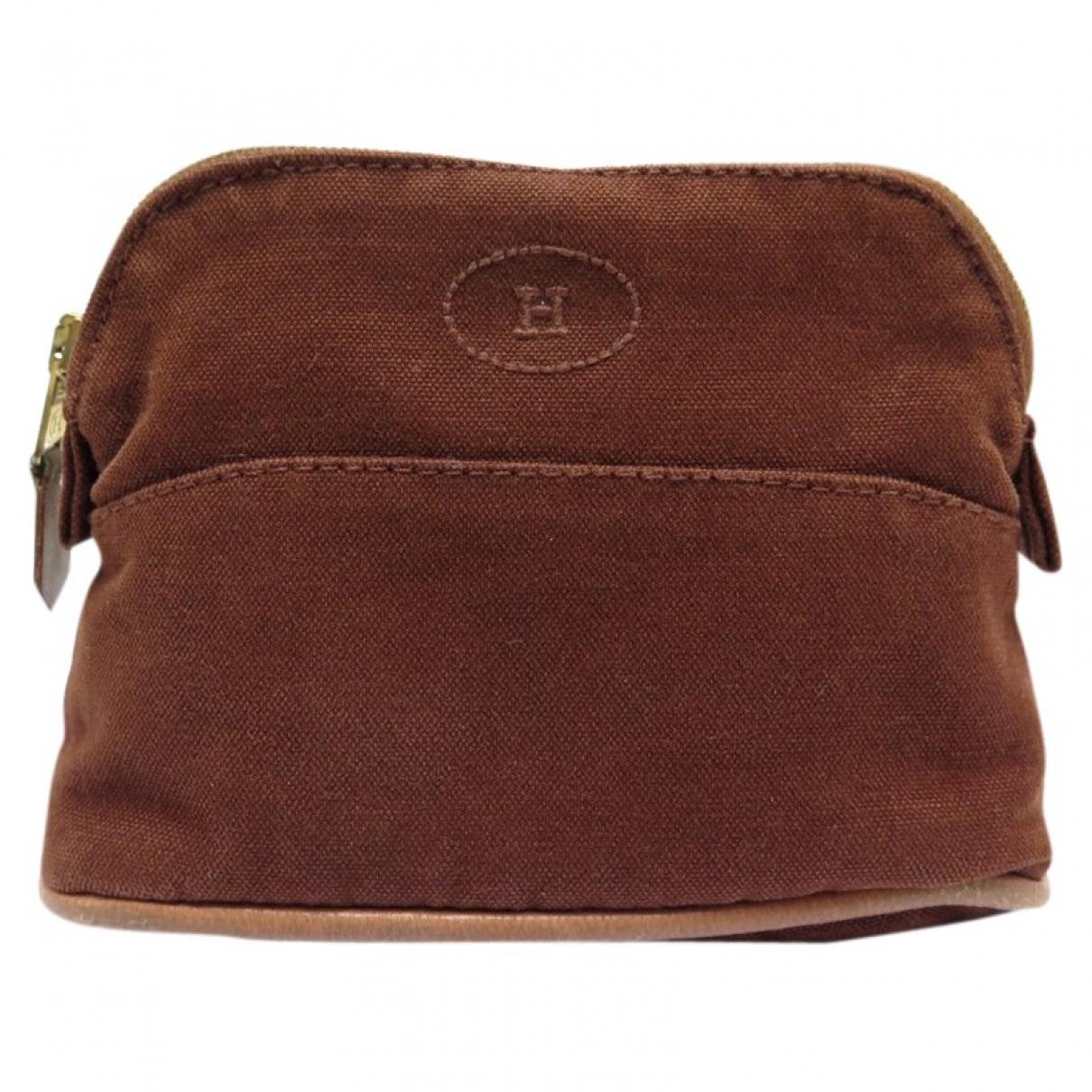 Hermes - Pochette   pour femme en coton - marron