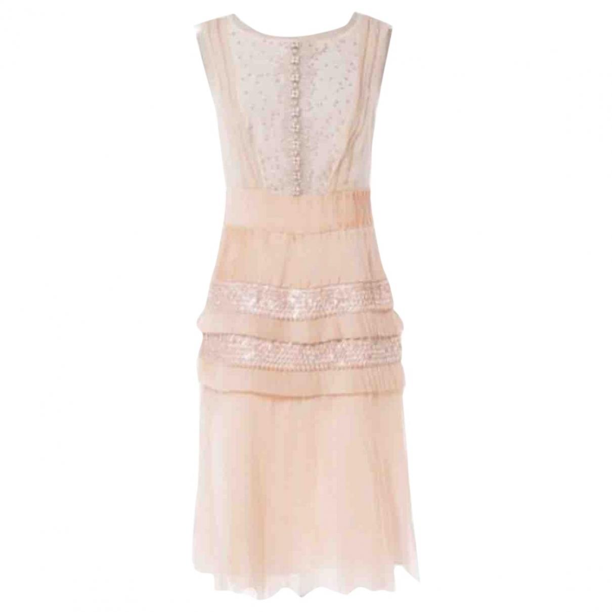 Carolina Herrera \N Pink Silk dress for Women 4 US