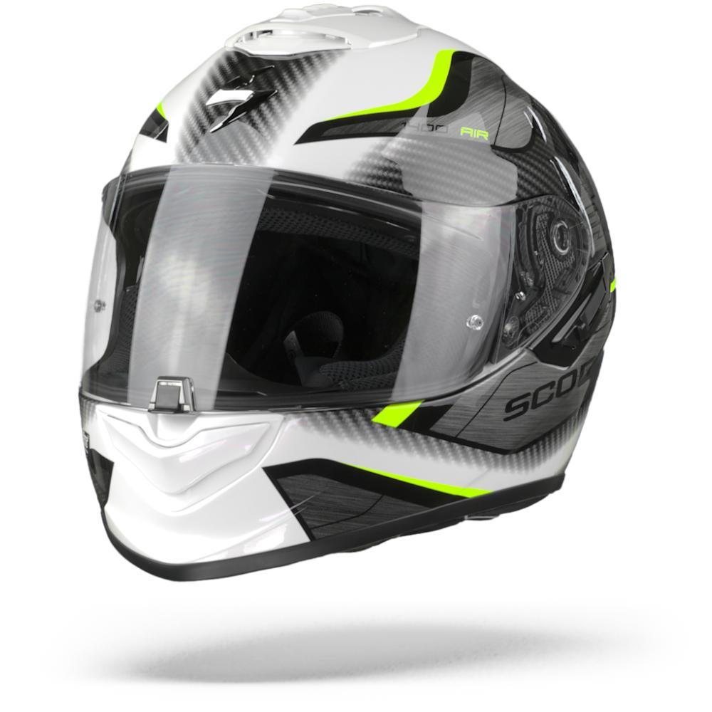 Scorpion EXO-1400 Air Casco Integral (Full Face) Blanco Amarillo Neon 2XL