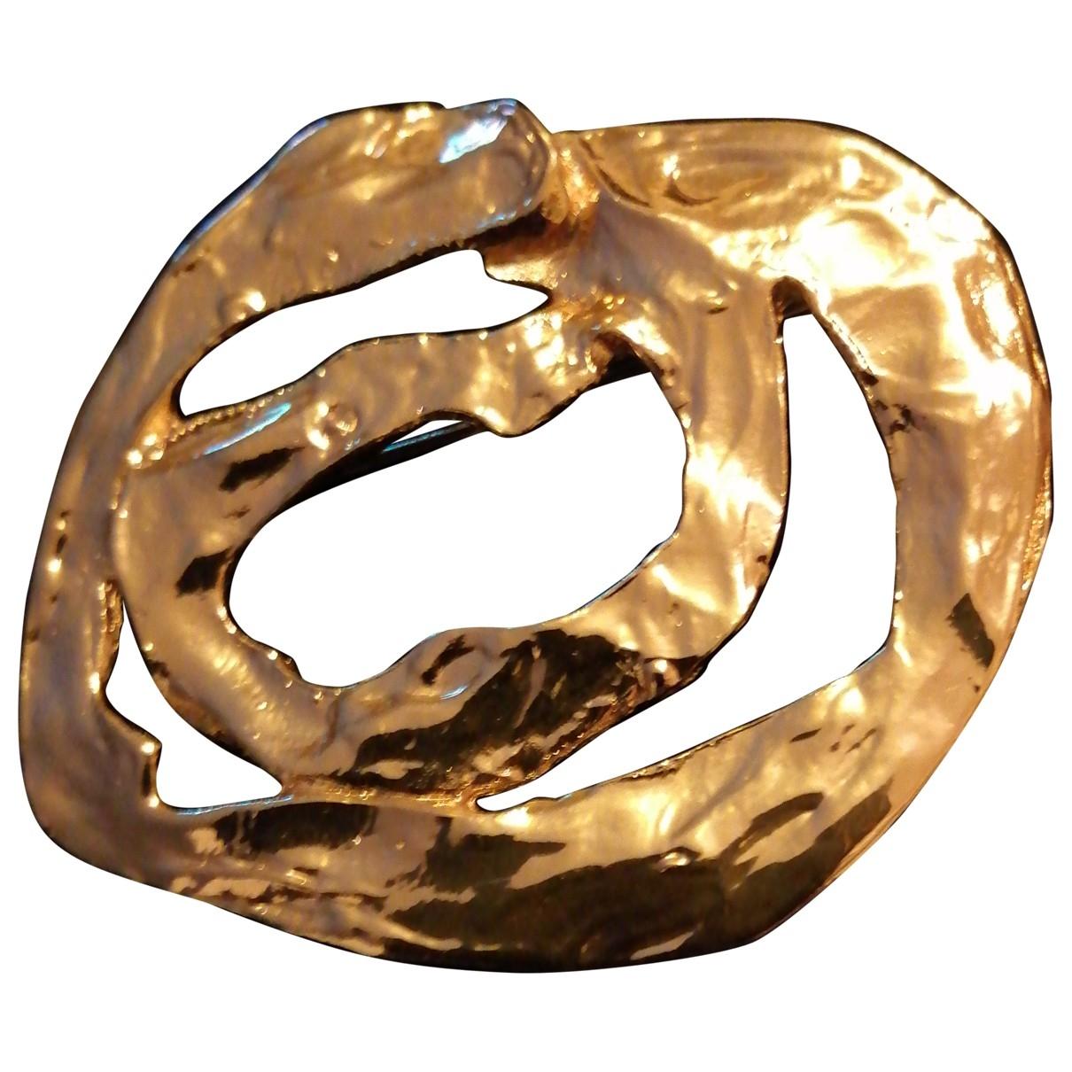 Broche en Chapado en oro Dorado Yves Saint Laurent