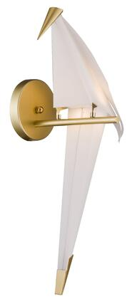 SR14 1-Light LED Wall Sconce with Steel and Plastic Materials and 2 Watts in Gold