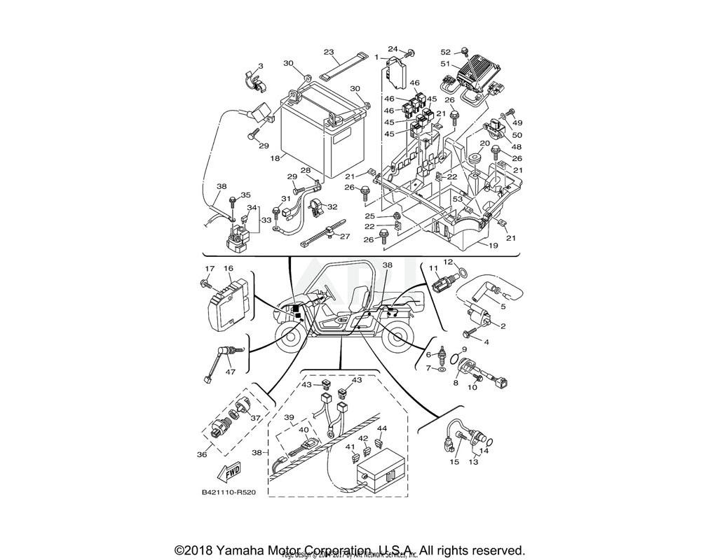 Yamaha OEM 1XD-H212B-00-00 BOX, BATTERY 1
