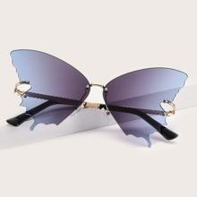 Men Butterfly Shaped Sunglasses