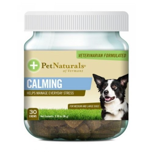 Calming For Medium and Large Dogs 30 Chews by Pet Naturals of Vermont