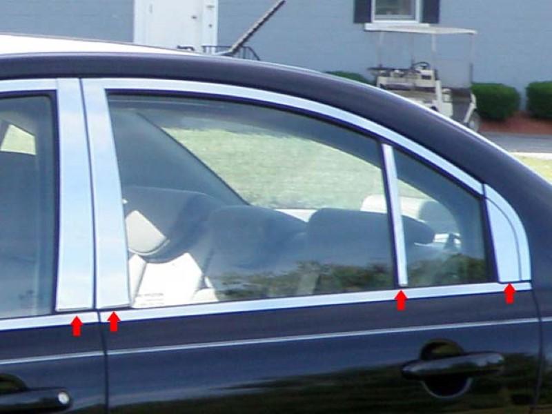 Quality Automotive Accessories 8 Piece Stainless Pillar Post Trim Hyundai Accent  06-11