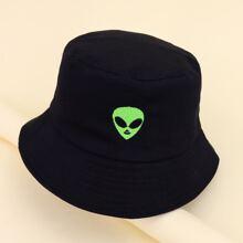 Kids Alien Embroidered Bucket Hat