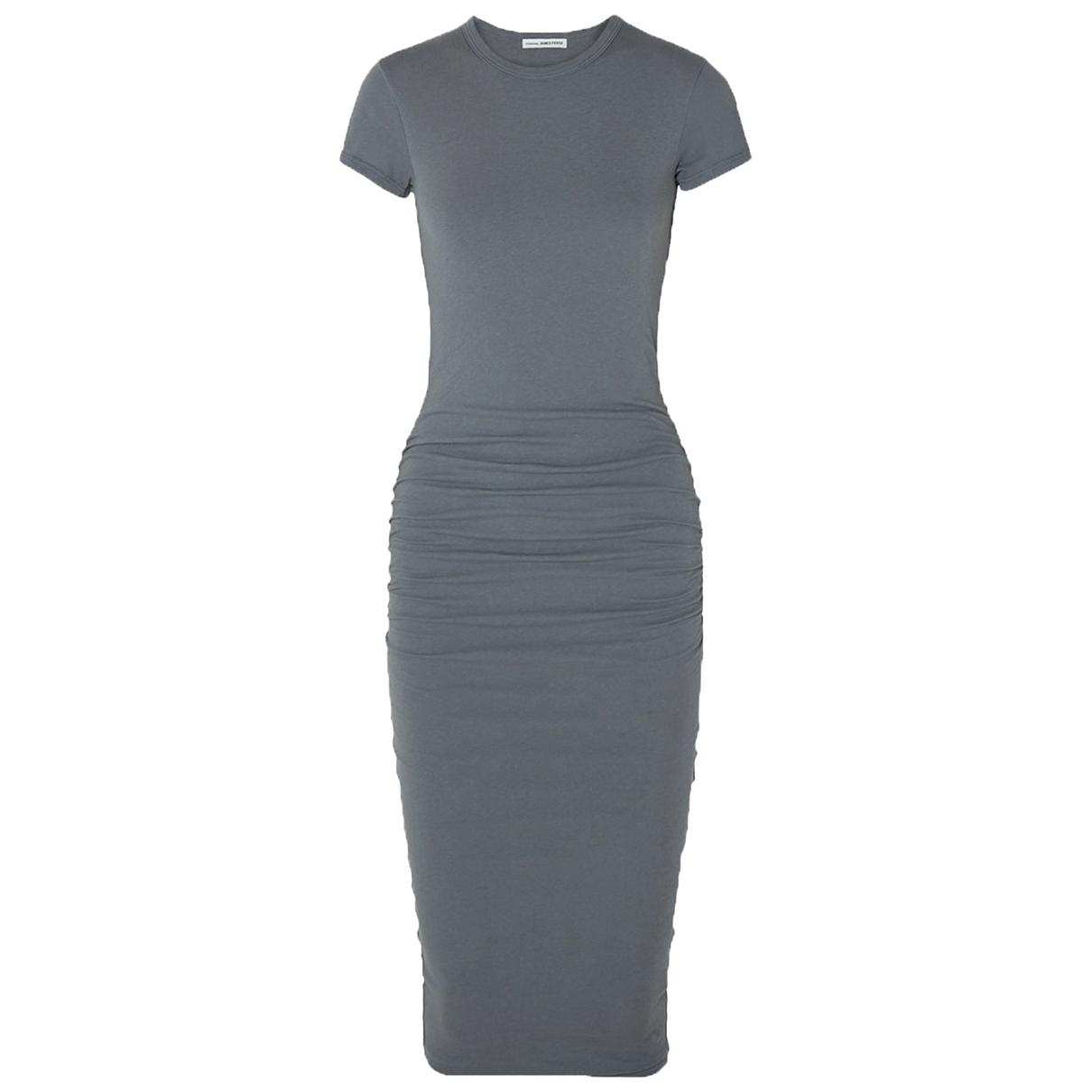 James Perse \N Kleid in  Grau Baumwolle