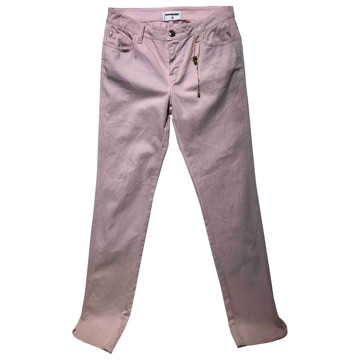Chanel \N Pink Cotton Trousers for Women 36 FR