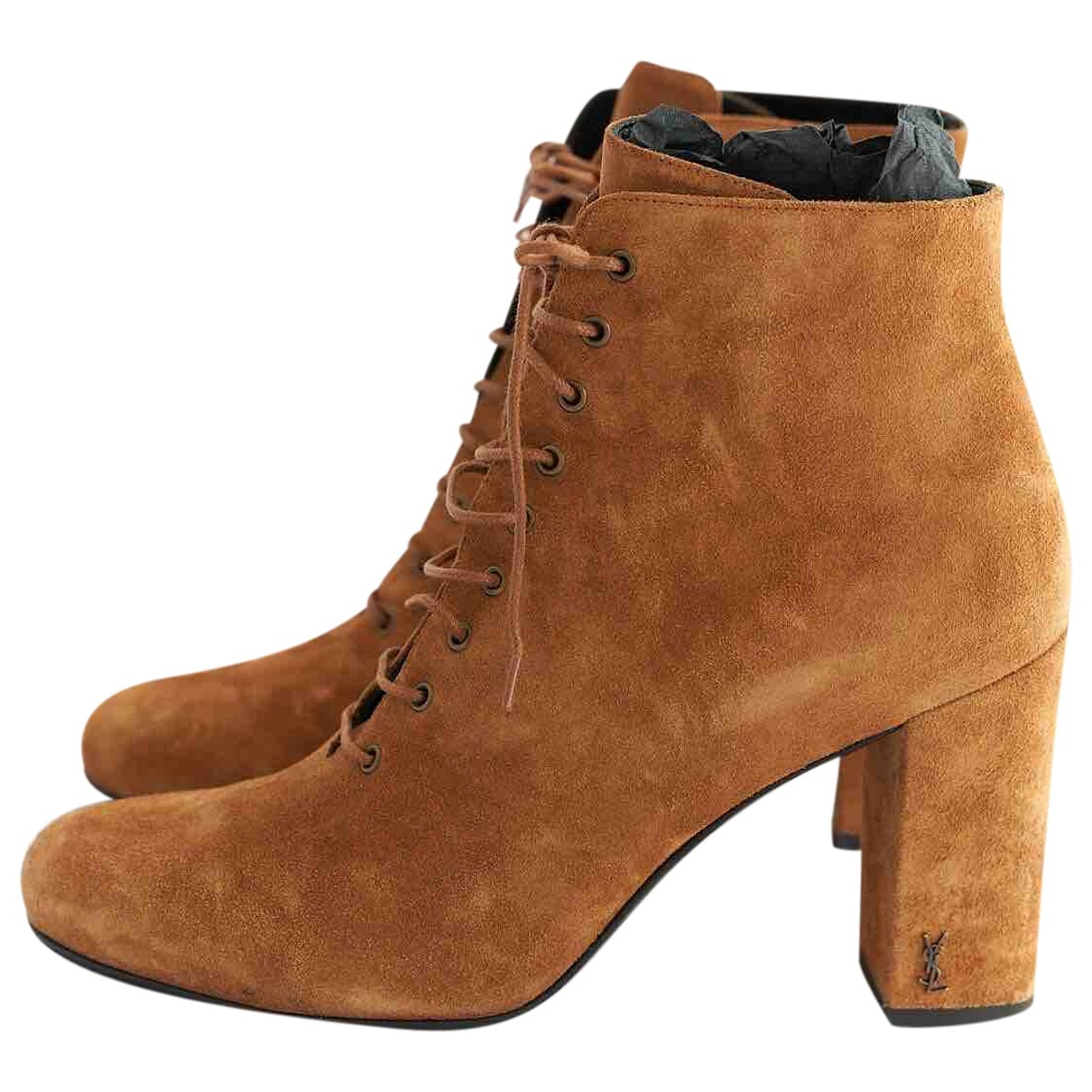 Yves Saint Laurent \N Brown Suede Ankle boots for Women 40.5 EU