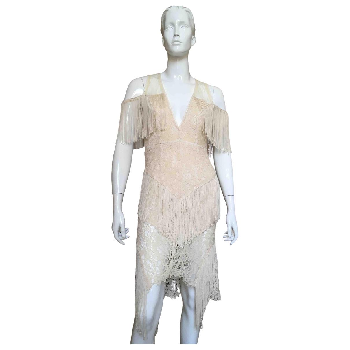 - Robe Hippie Chic pour femme en coton - beige