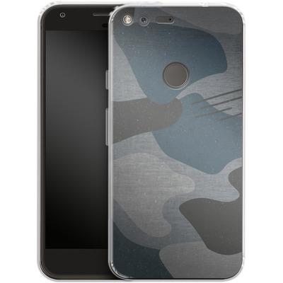 Google Pixel Silikon Handyhuelle - Marine Camo von caseable Designs