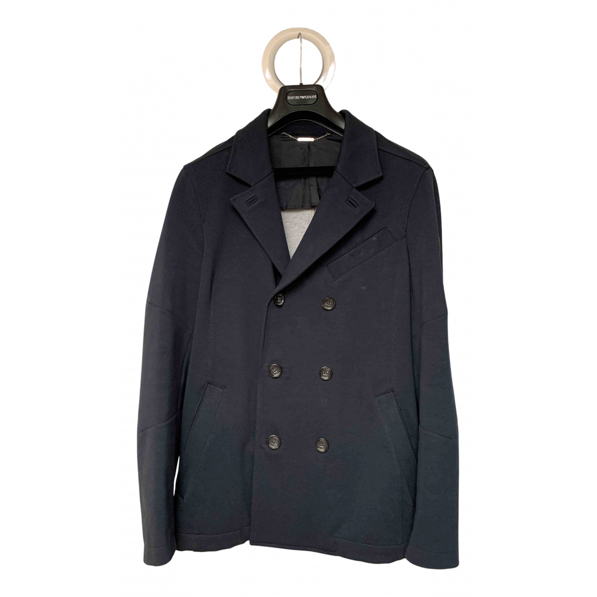 Guess N Navy Cotton jacket  for Men L International
