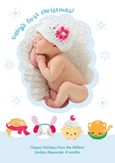 Christmas Photo Cards 5x7 Cards, Premium Cardstock 120lb, Card & Stationery -Baby Joy