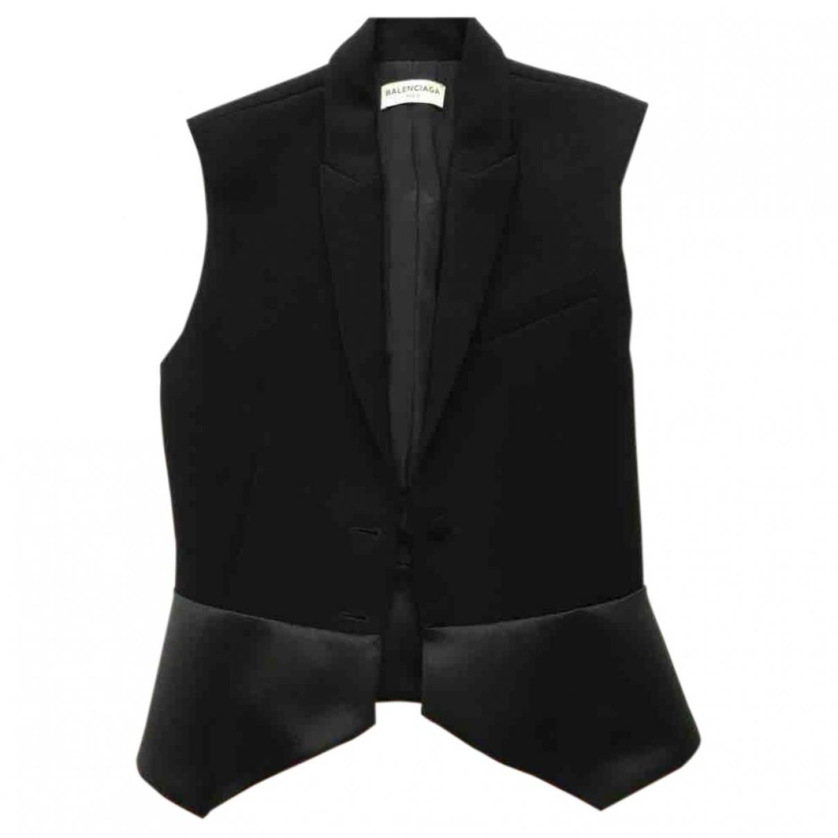 Balenciaga \N Black Silk jacket for Women 38 FR
