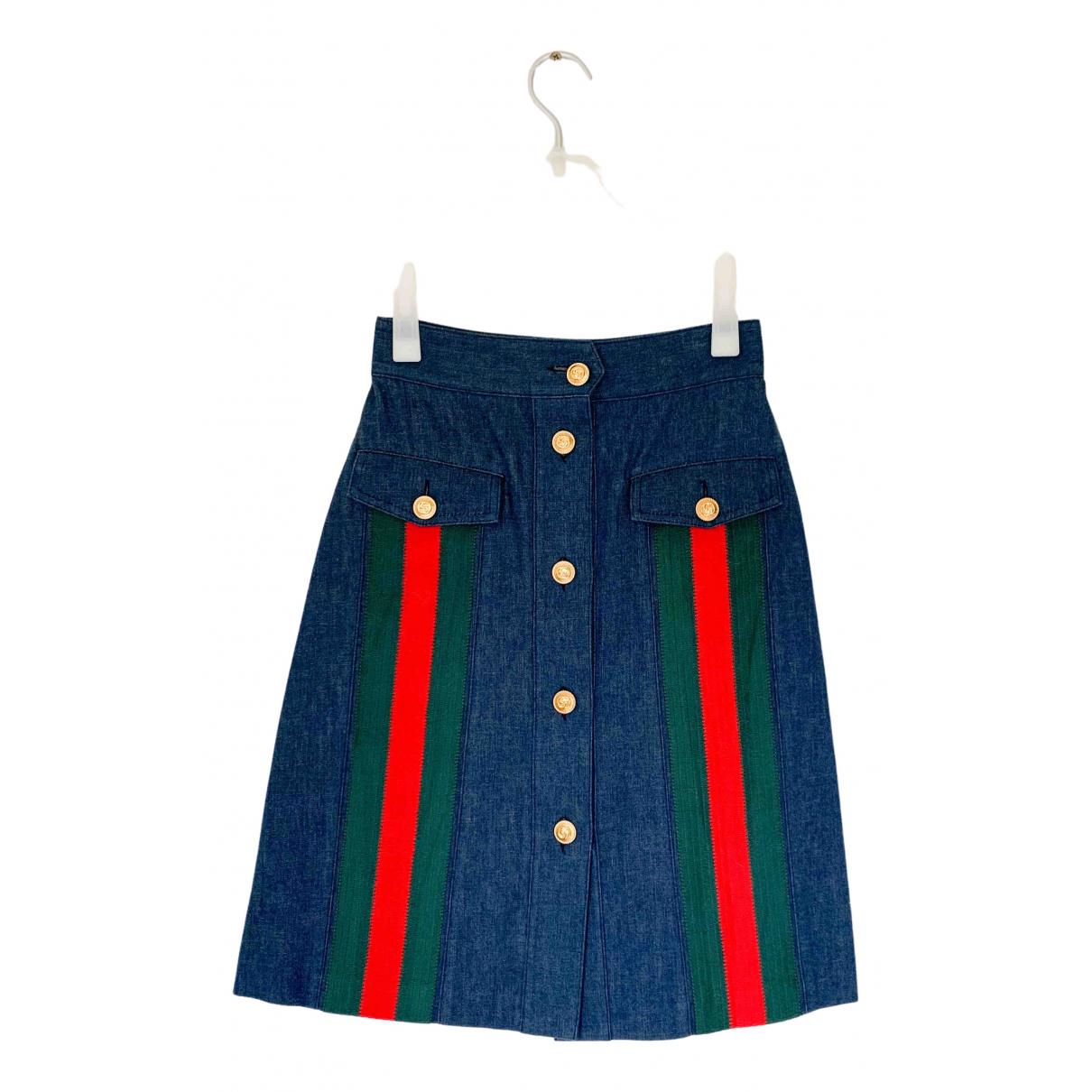 Gucci \N Rocke in  Blau Denim - Jeans