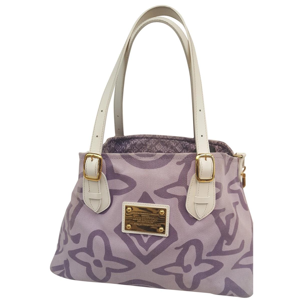 Louis Vuitton - Sac a main   pour femme en coton - violet