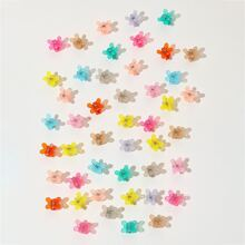 50 Stuecke Haarklaue mit Schmetterling Design