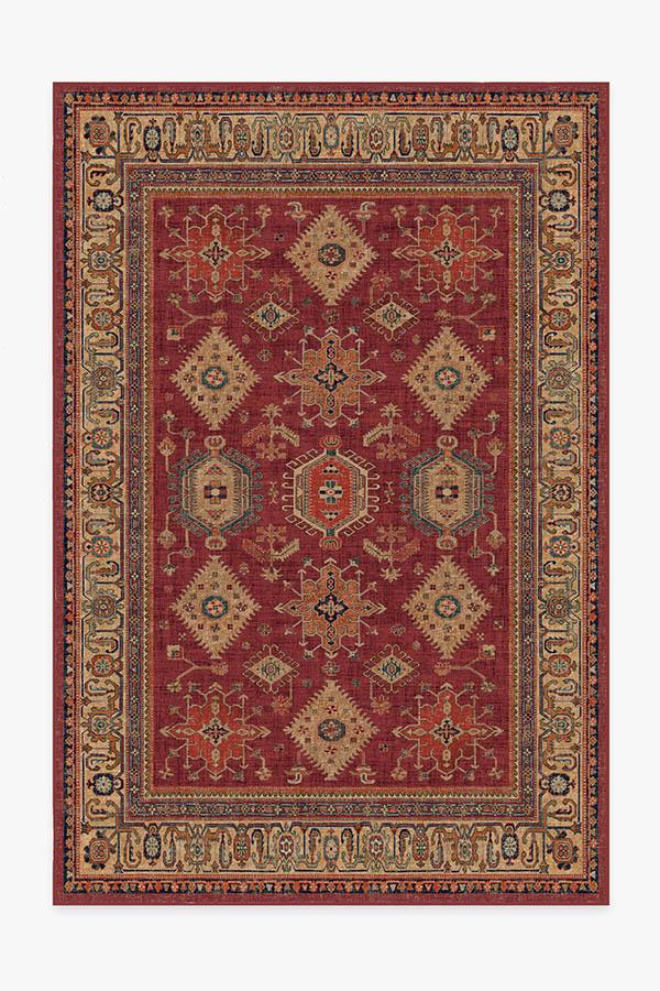 Washable Rug Cover & Pad | Cambria Ruby Rug | Stain-Resistant | Ruggable | 6'x9'