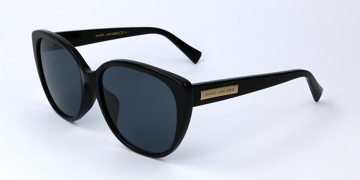 Marc Jacobs MARC 439/F/S Asian Fit 807 Women's Sunglasses Black Size 57