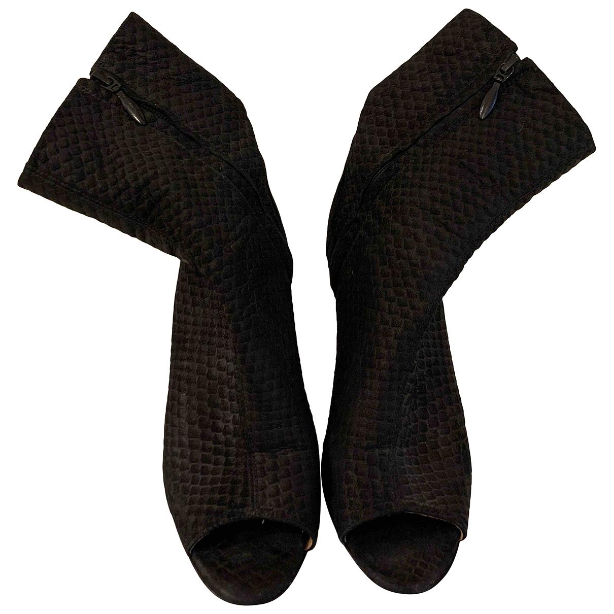 Acne Studios \N Black Tweed Ankle boots for Women 37 EU