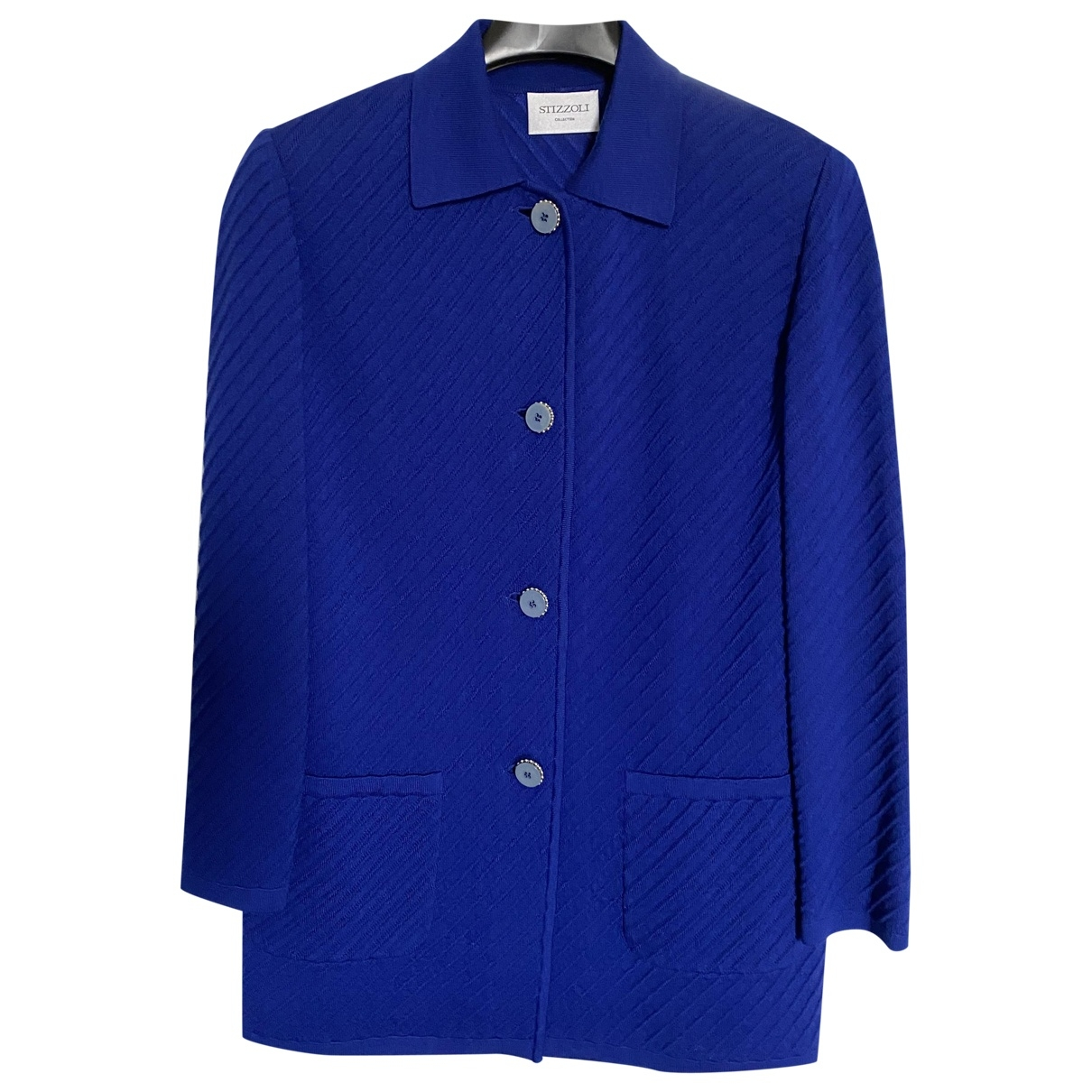 Non Signe / Unsigned \N Pullover in  Blau Wolle