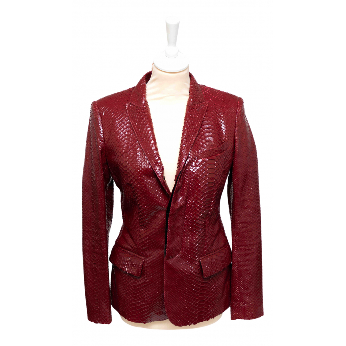 Jean Paul Gaultier N Red Python jacket for Women 36 FR