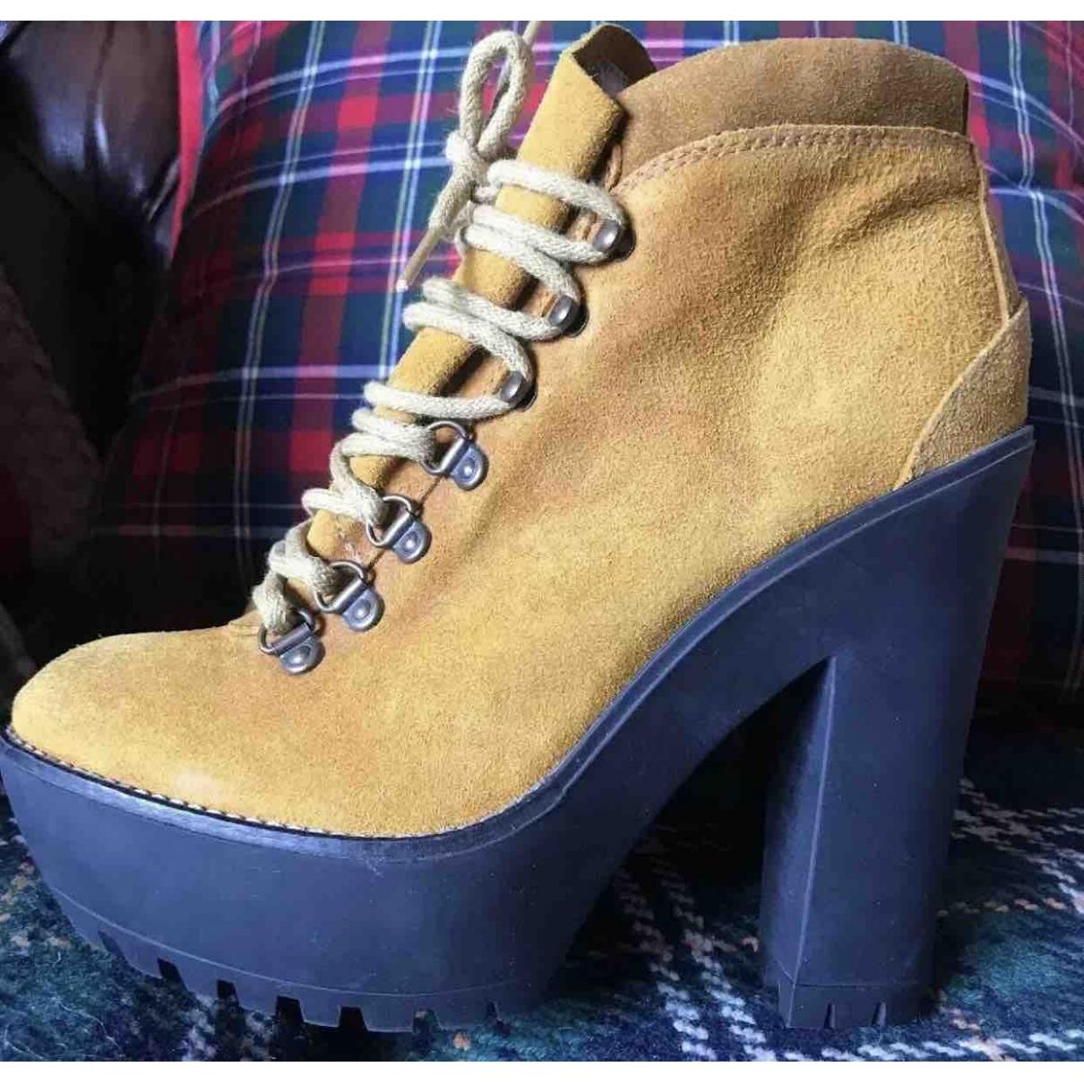 Polo Ralph Lauren \N Yellow Suede Boots for Women 38 EU