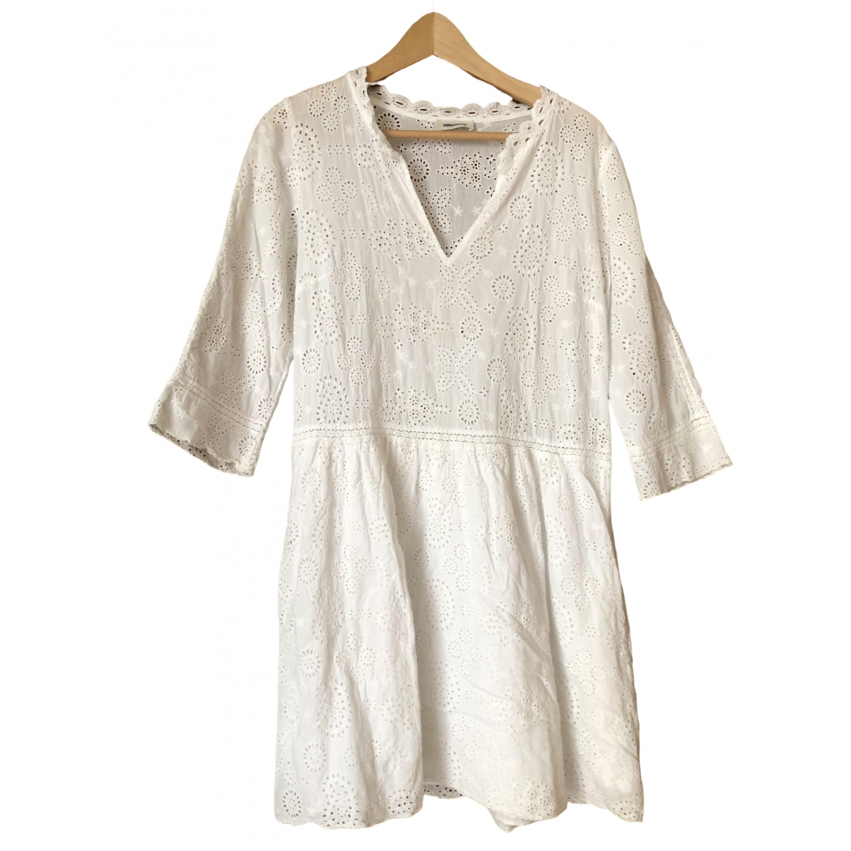 Zadig & Voltaire Spring Summer 2019 White Cotton dress for Women M International