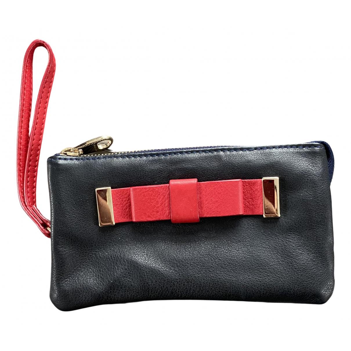 Red Valentino Garavani - Portefeuille   pour femme en cuir - bleu