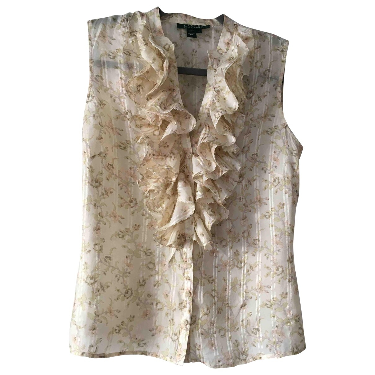 Lauren Ralph Lauren \N Ecru Silk  top for Women 6 US
