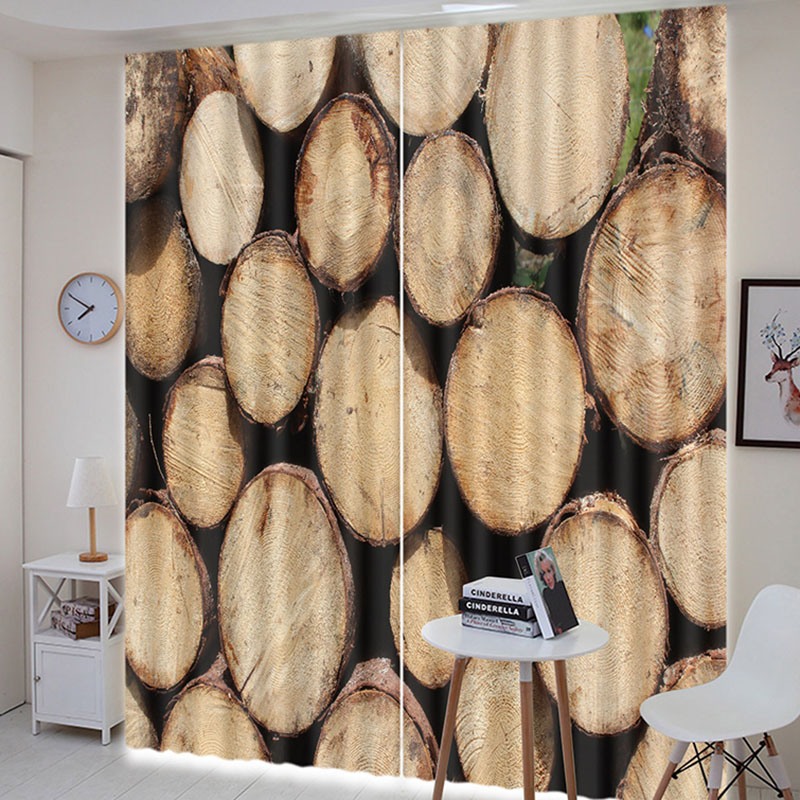 Beddinginn Creative 3D Wood Decoration Curtain