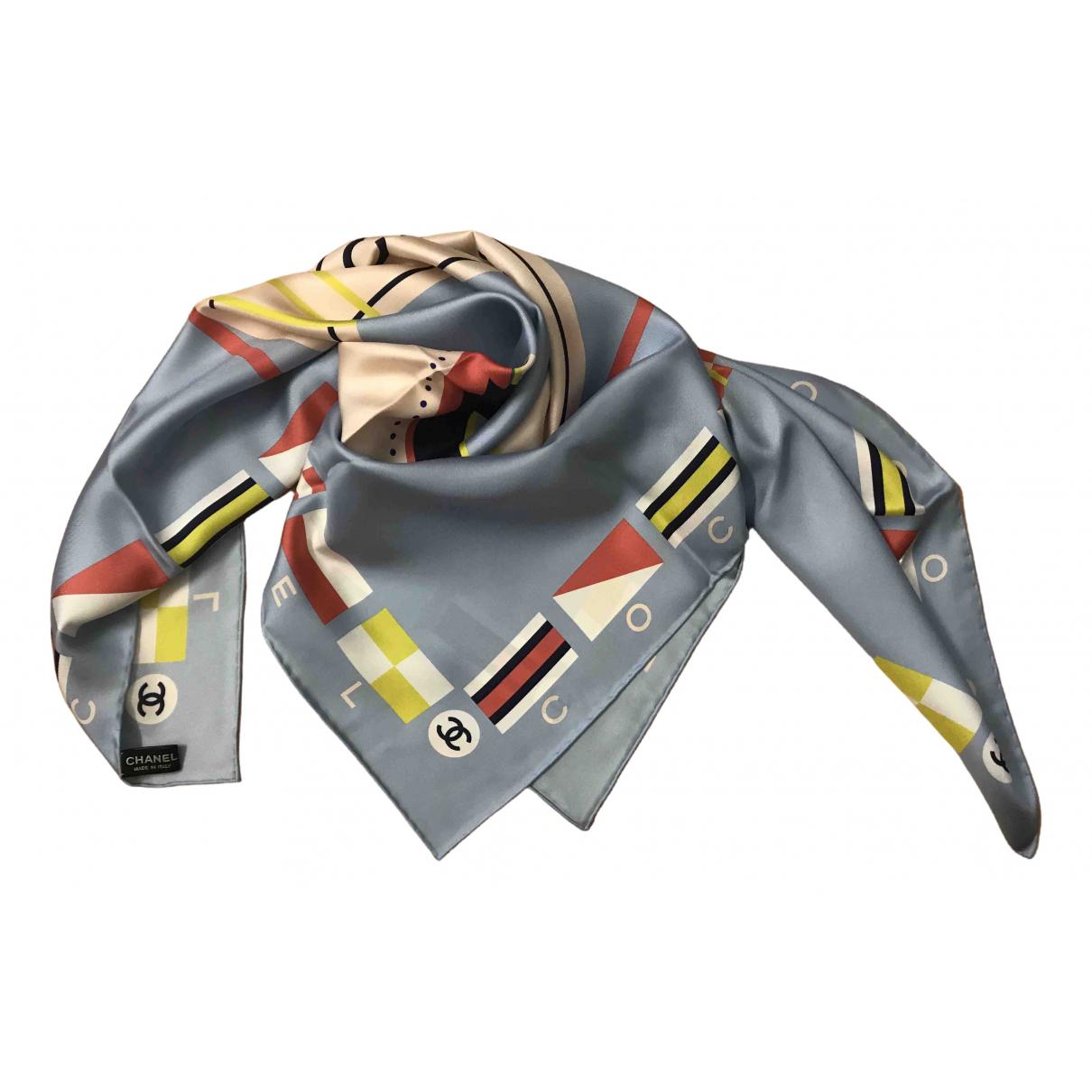Chanel \N Blue Silk scarf for Women \N
