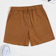 Shorts de hombres de cintura con cordon