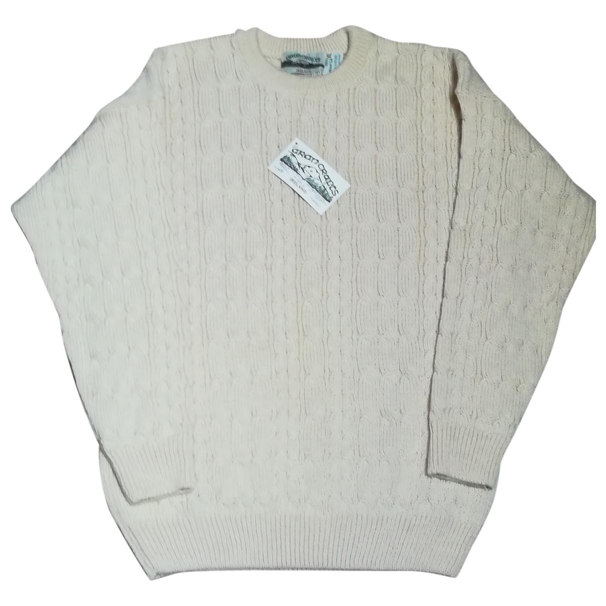 Aran Crafts - Pulls.Gilets.Sweats   pour homme en laine - ecru