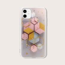 Funda de iphone con patron geometrico de papel de oro