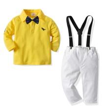 Polo T-Shirt mit Schleife vorn und Hose