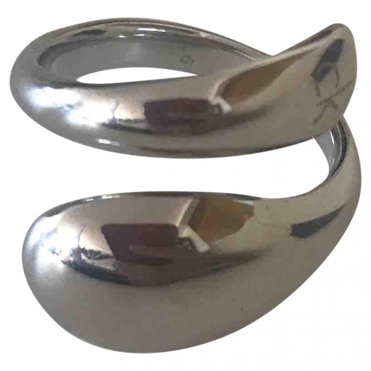 Calvin Klein \N Silver Steel ring for Women 5 ¼ US