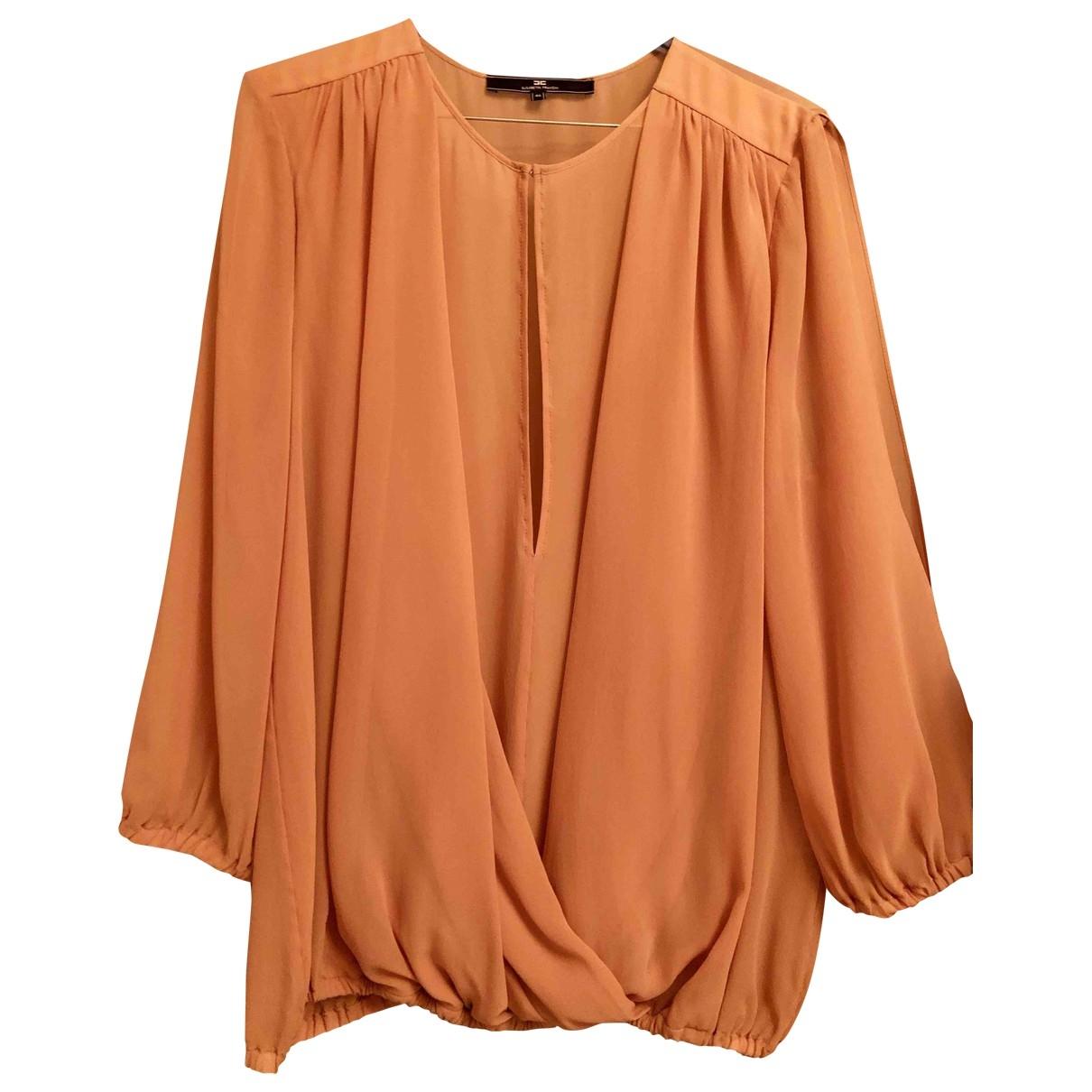 Elisabetta Franchi \N Beige Silk  top for Women 46 IT