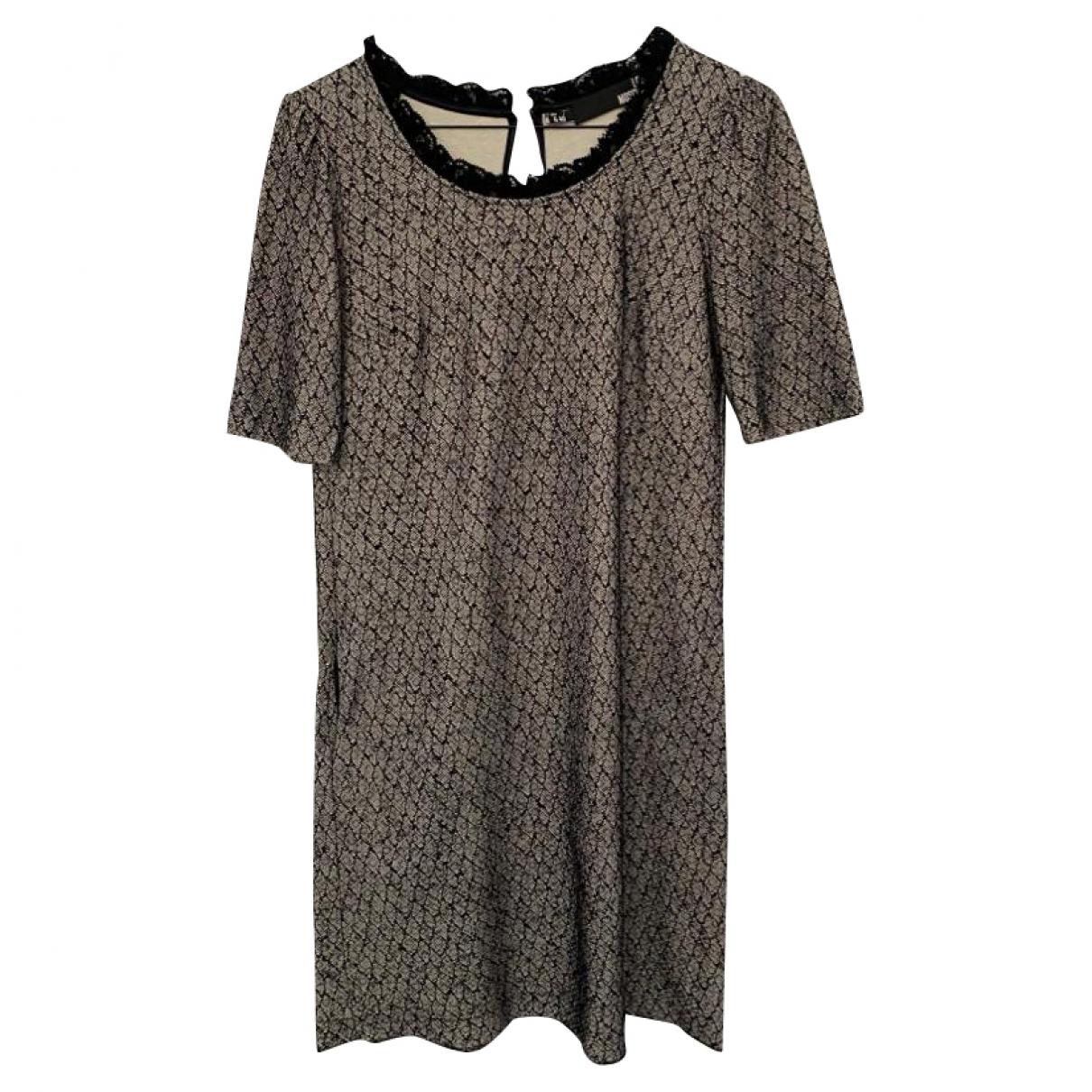 Moschino Love \N Kleid in  Grau Baumwolle