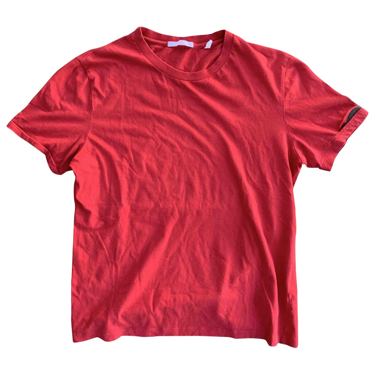 Helmut Lang \N Red Cotton  top for Women M International