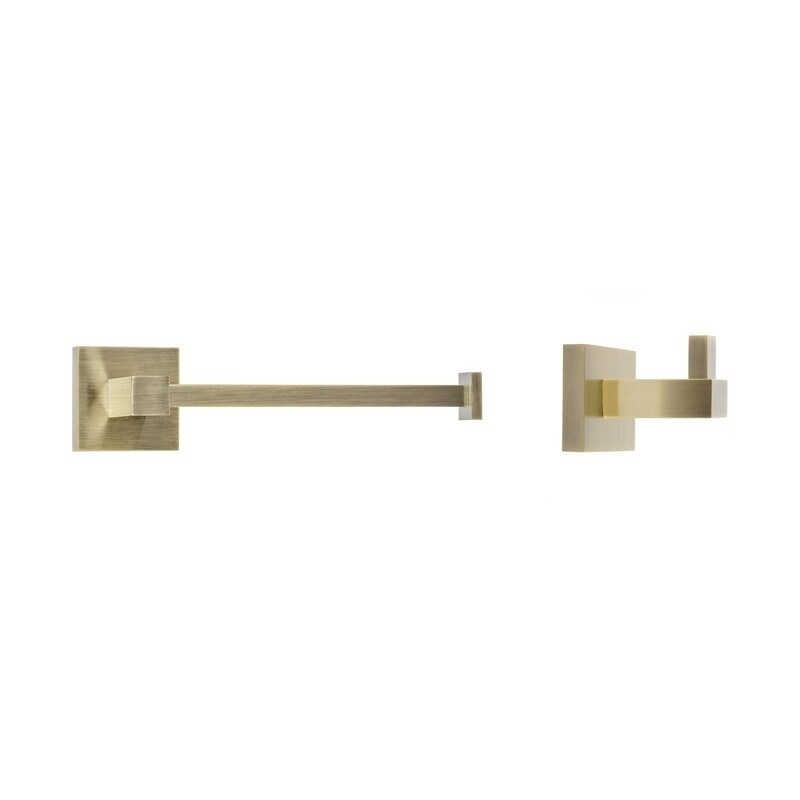 Italia Capri Series Bronze Toilet Paper Holder and Robe Hook Set