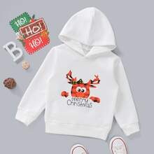 Toddler Boys Christmas Print Hoodie