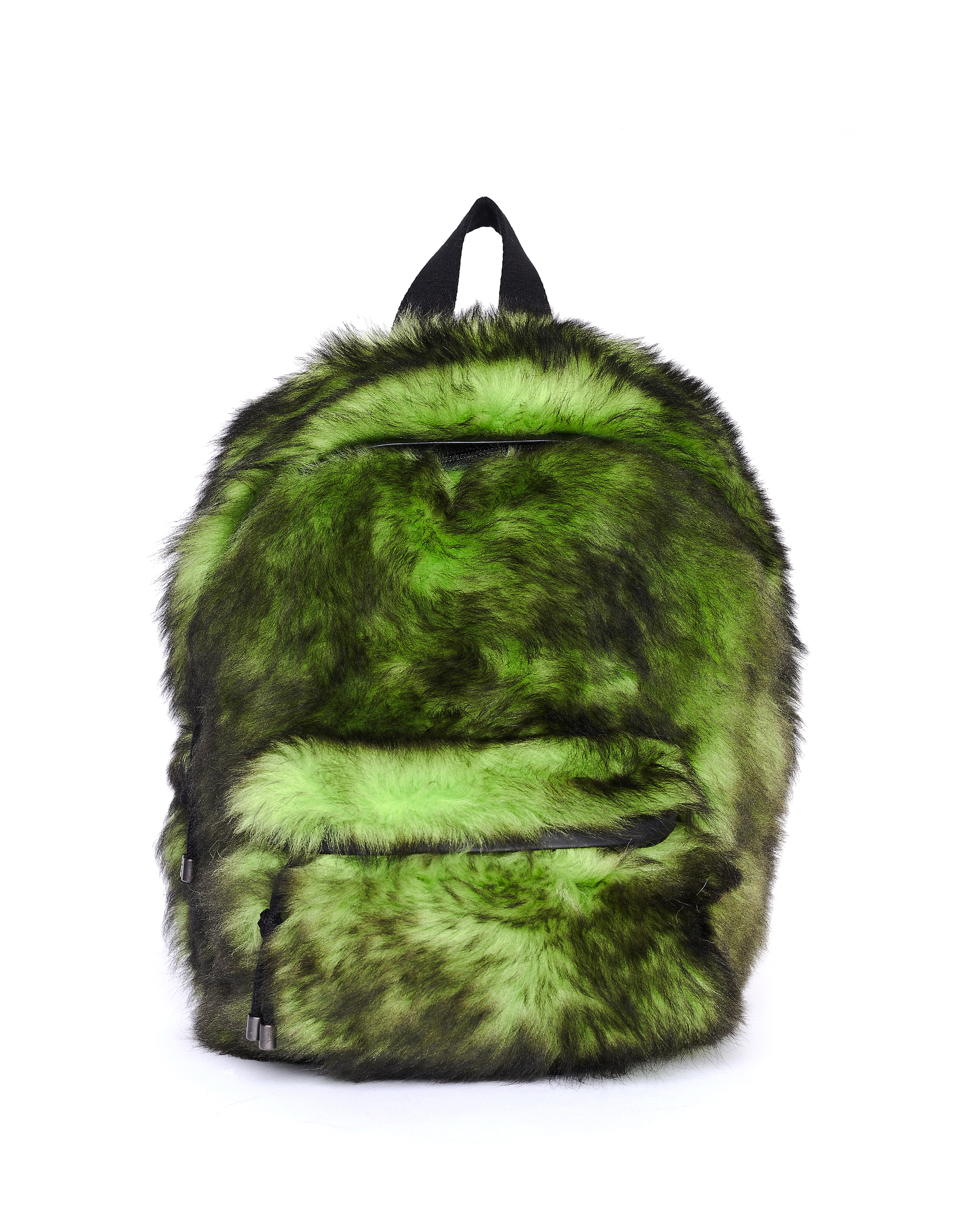 Vetements Green Shearling Backpack