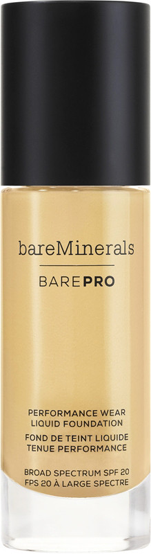 BAREPRO Performance Wear Liquid Foundation Broad Spectrum SPF 20 - Pecan 18 (for medium-tan neutral skin w/ peach undertones)