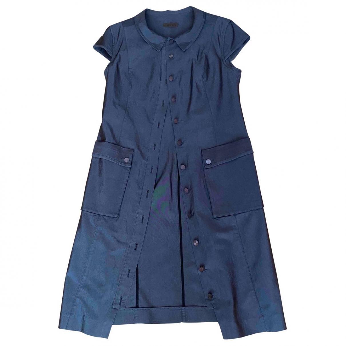 Loewe \N Kleid in  Grau Baumwolle